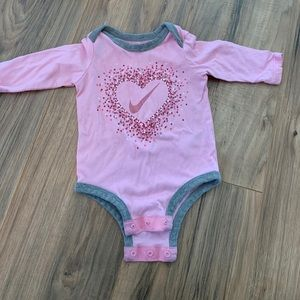 Baby Girl Nike Long Sleeve Onesie
